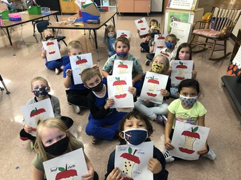 Kindergarteners Learn About Apples