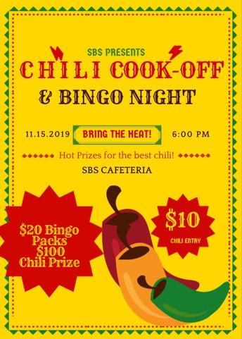 Chili Cook Off and Bingo Night - Fri, Nov. 15