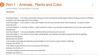 Post Your Flipgrid Ressponse ......What are your Favorite Animals?