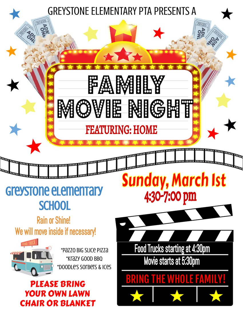 Family Movie Night - March 1st at 4:30