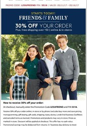 Uniform Information and Lands' End Sale