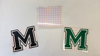 """Large """"M"""" Decals - $4 each"""
