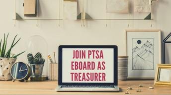 PTSA has an open treasurer position!