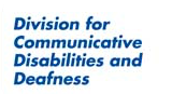 We are CEC Division for Communicative Disabilities and Deafness