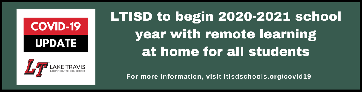 Click to learn more about LTISD learning from home.