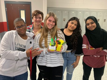 Mrs. Dohnalik and Mrs. Godwin's Floral Design students performed Random Acts of Kindness by delivering these cute goodies to some of our Tiger Staffulty!