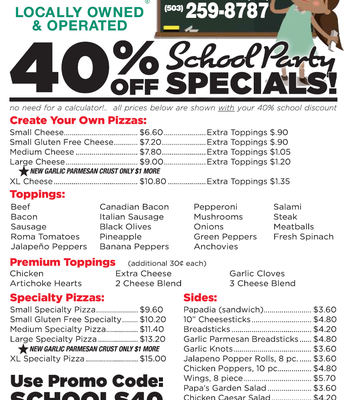 Papa John's Pizza is Welcoming you Back to School