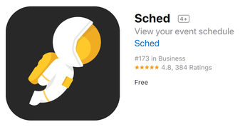 Download the free Sched App onto your phone