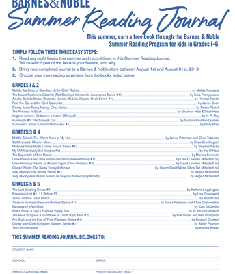 Barnes & Noble Booksellers Summer Reading Journal