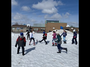 Sunny snow soccer is a welcome addition to outdoor play!