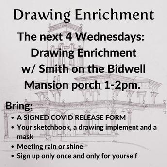 Bidwell Mansion Drawing Enrichment