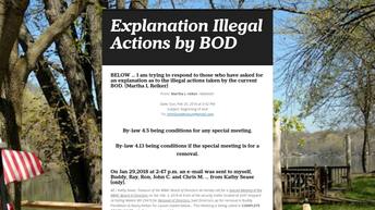 Illegal Actions By Board