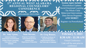 West Alabama Regional School Counselors' Conference--GOES VIRTUAL!