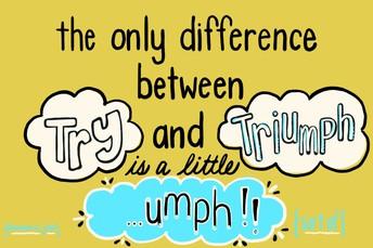 Try a little ....umph!