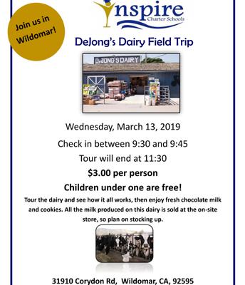 DeJong's Dairy Field Trip!