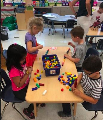 Using Cubes in Kindergarten