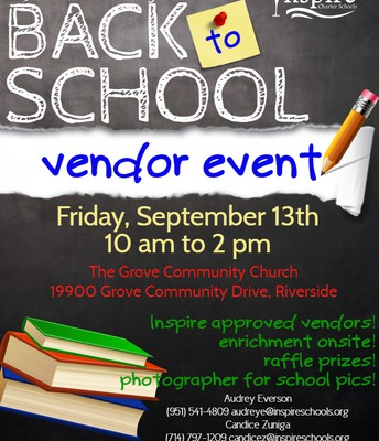 RIVERSIDE AREA Back to School Vendor Event