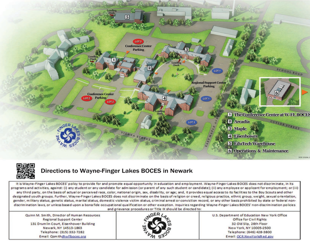 Map of WFL Boces Campus and Conference Center