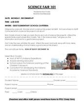 Science Fair 101 - Monday, Dec. 4