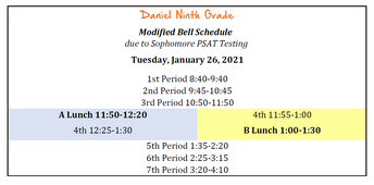 Tuesday, January 26