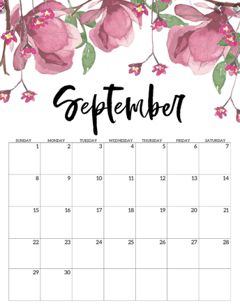 August/September Calendar