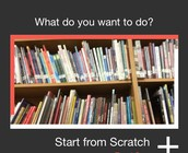 "Select ""Start from Scratch"""