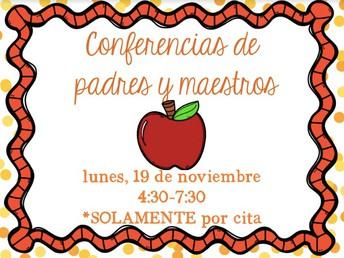Conferencias de padres y maestros