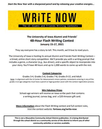 'Write Now' Writing Contest!