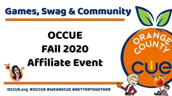 Orange County Educators Come Together For the OCCUE Fall Affiliate Event Thursday, October 22  4:30 to 6:00