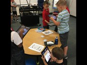 Smarties using the quiver app to celebrate National Dot Day.