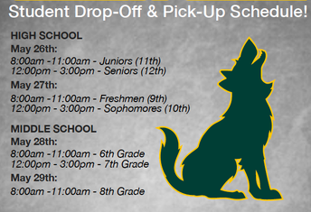 Schedule Announced for Student Pick-Up/Drop-Off of Items