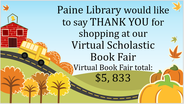 Paine flyer for thank you - details above and below