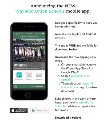 New Wayland School APP