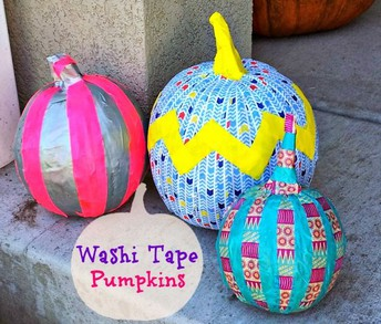 Washi Pumpkin Decorating for Adults!