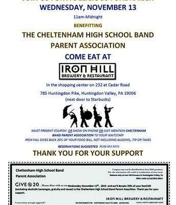 Band Fundraiser @ Iron Hill