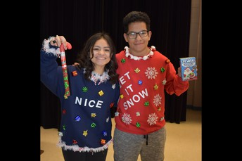 StuCo Ugly Sweater Contest Winners