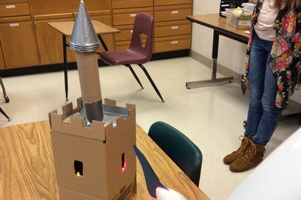 An image of a castle built by a club member