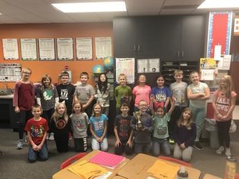 Cougar Focus Winners: Mrs. Hart's Class