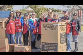 Thank You, Volunteers in the 1st Cardboard Playground