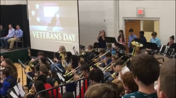Band playing for Veterans and Guests