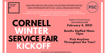 Cornell Winter Service Fair Kickoff