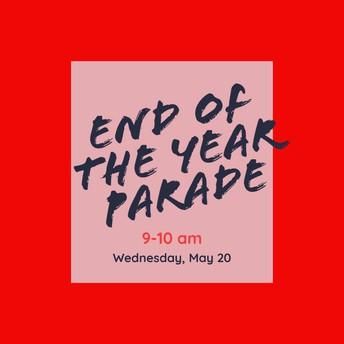 May 20- Drive Thru Parade Wave 9-10 am.