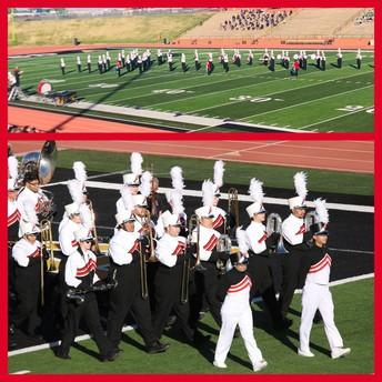 Lobo Band Performs at Area