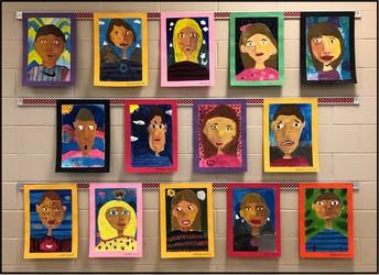 3rd grade Self Portraits