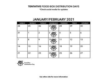 Winter food resources calendar