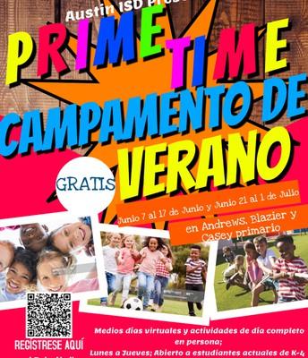 PRIME TIME CAMPAMENTO DE VERANO