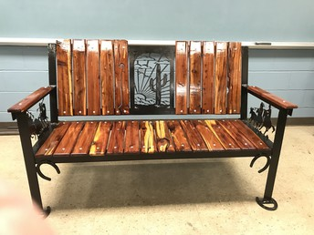 Beautiful bench made by Mr. Fuller