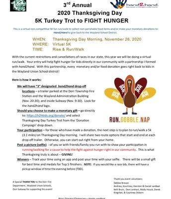 Thanksgiving Day Turkey Trot!