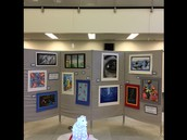 Elementary through High School Art will be displayed until February 3.