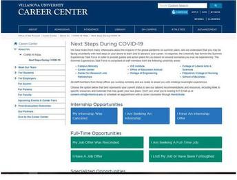 Career Center Next Steps Website